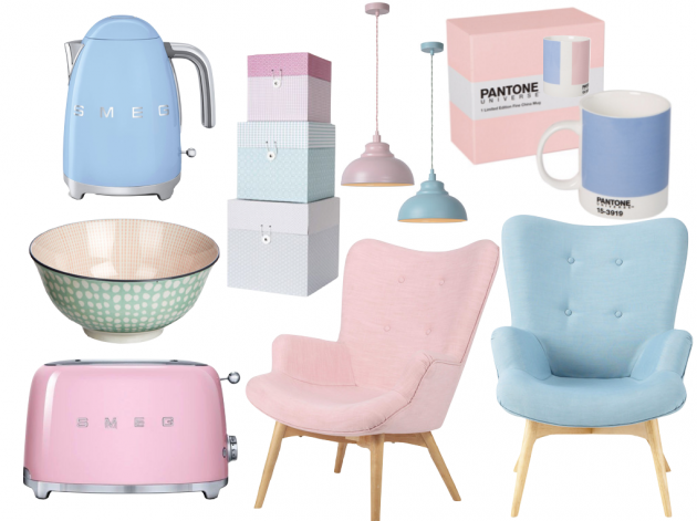 pantone rose quartz et serenity shopping ameublement