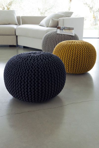 pouf tricot tuto diy et o en acheter un tout pr t clemaroundthecorner. Black Bedroom Furniture Sets. Home Design Ideas