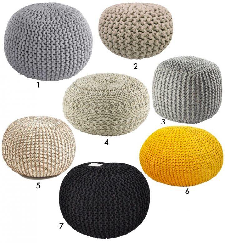 Pouf tricot : Tuto DIY et où en acheter un tout prêt ...