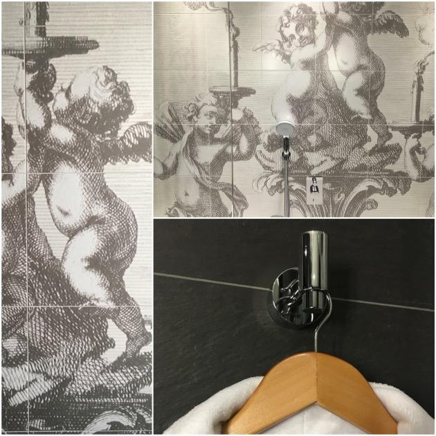 salle de bain carrelage mural imprime personnalisation