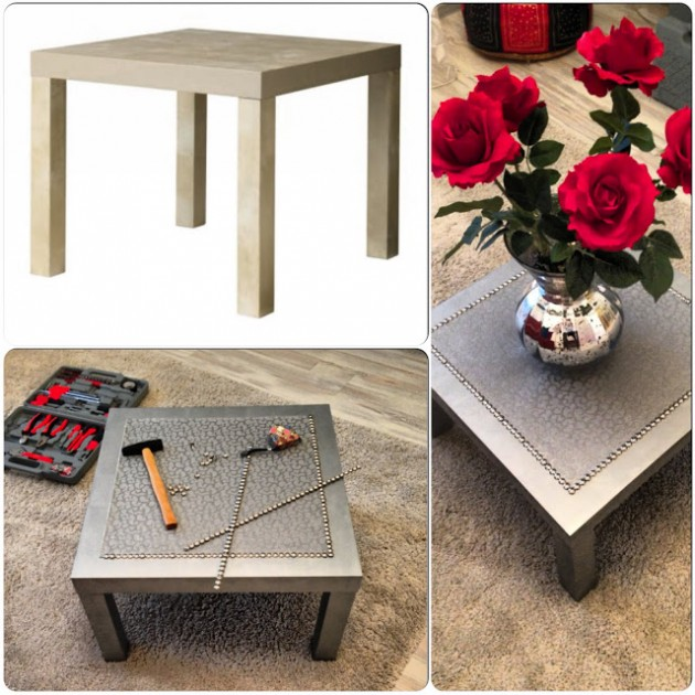 Customiser une table basse ikea blog d co clem around - Transformer une table en bois ...