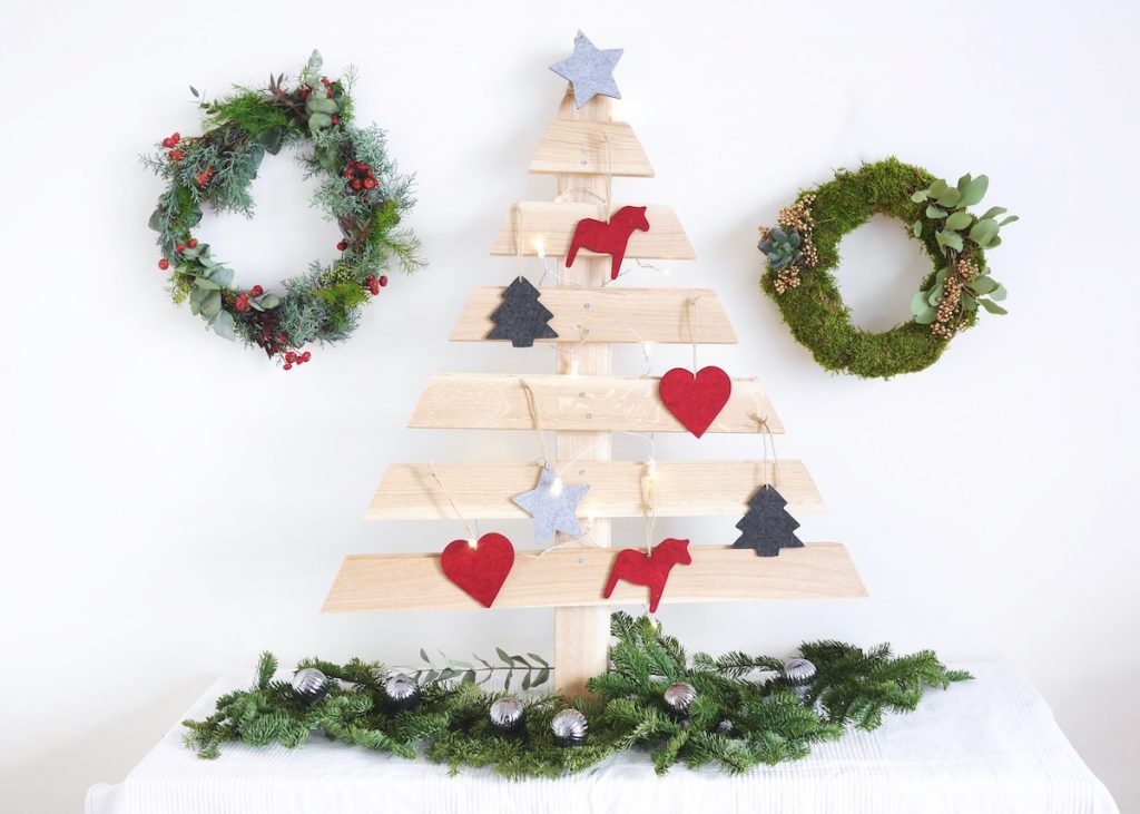 YouTube DIY sapin de noel en bois parquet upcycling