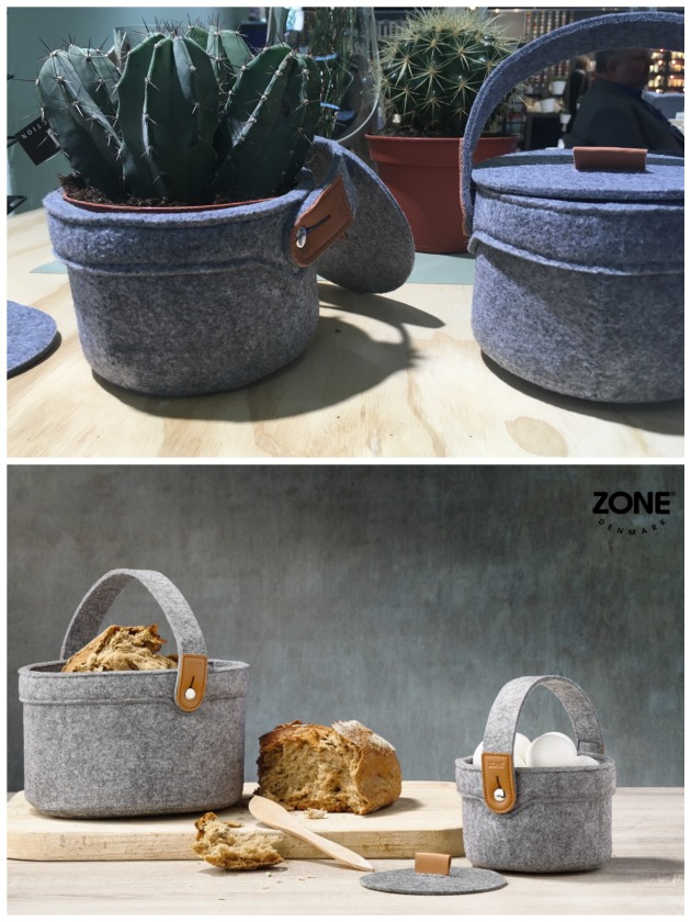 boite a pain en feutre gris a couvercle diy