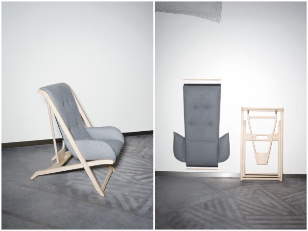 fauteuil scandinave pliable extra plat Lucie Le Guen