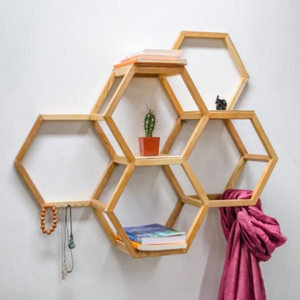 étagère géométrique en bois Etsy