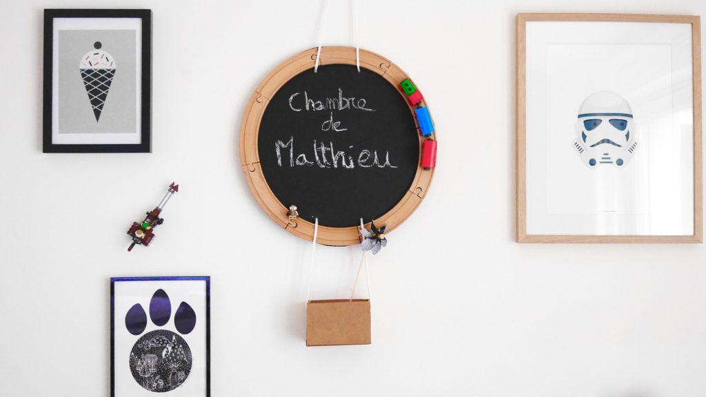 DIY deco chambre enfant tableau noir ardoise