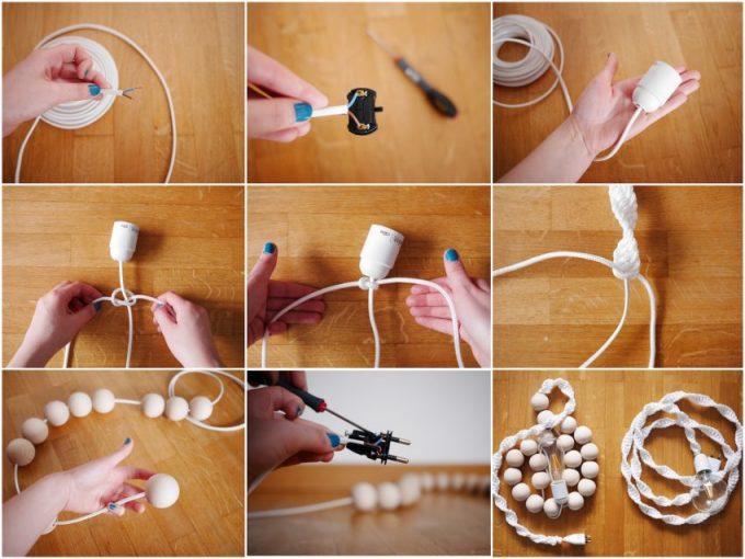 tutoriel DIY decoration lampe baladeuse macramé