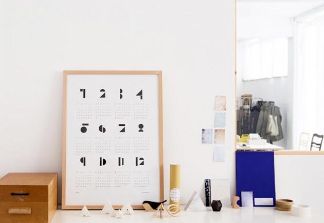 calendrier perpétuel style scandinave