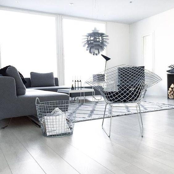 la chaise diamond de harry bertoia blog d co clem around the corner. Black Bedroom Furniture Sets. Home Design Ideas