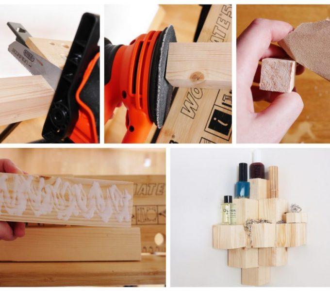 diy comment fabriquer une étagère d'angle en bois