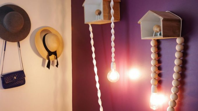 tutoriel DIY decoration lampe baladeuse macramé