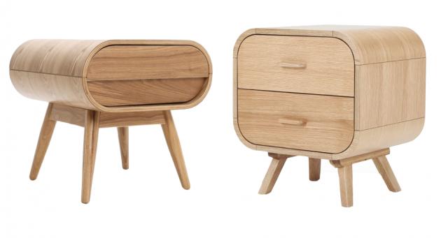 table de chevet ronde bois chère