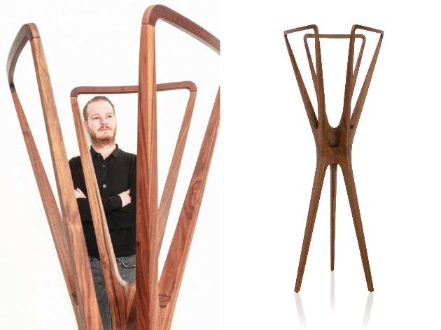 Jader Almeida designer portemanteau bois