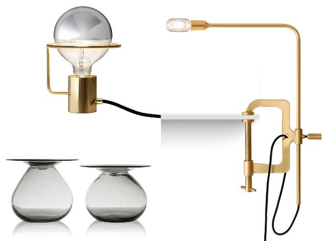 Jader Almeida laiton lampe verre