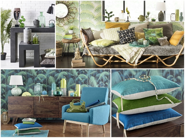 tendance jungle nature luxuriante et cama eu de verts. Black Bedroom Furniture Sets. Home Design Ideas