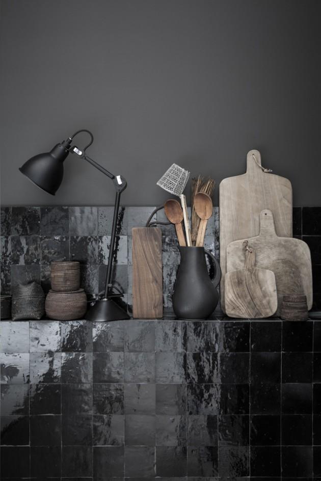 cuisine murs noirs