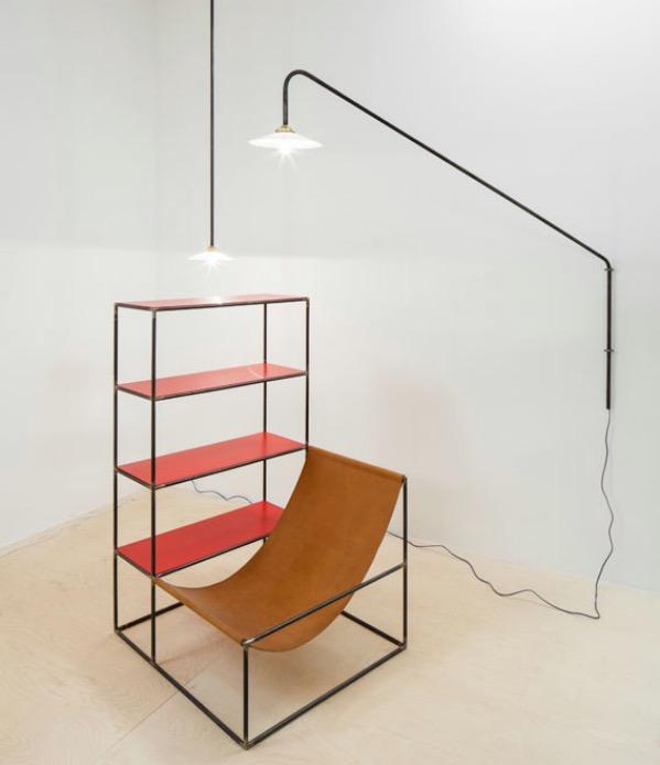 fauteuil bibliothèque étagère combiné