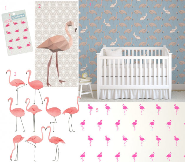 D co flamant rose blog d co clem around the corner - Papier peint flamant rose ...