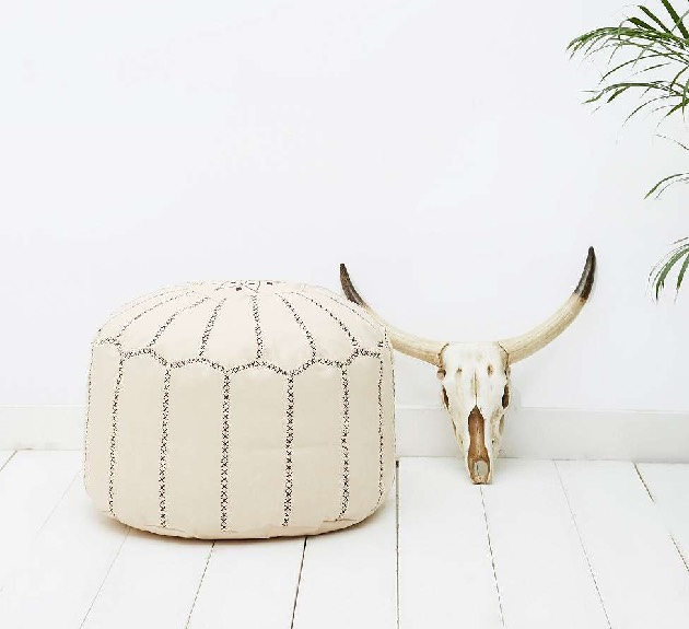 Pouf marocain naturel pvc urban outfitters