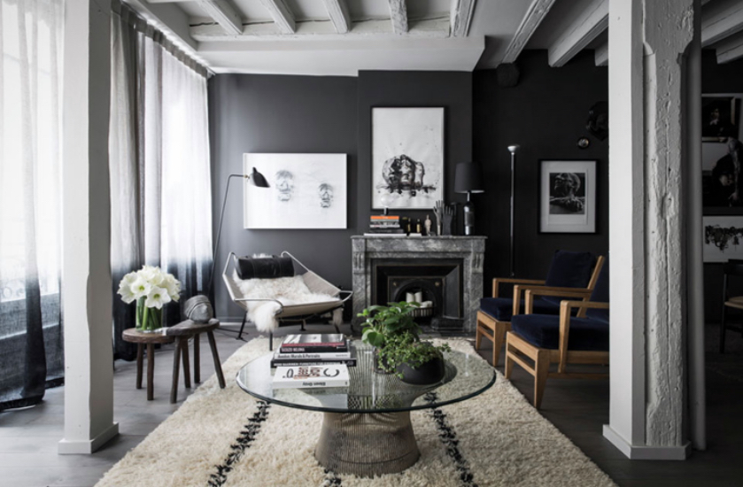 un int rieurs aux murs noirs blog d co clem around the corner. Black Bedroom Furniture Sets. Home Design Ideas
