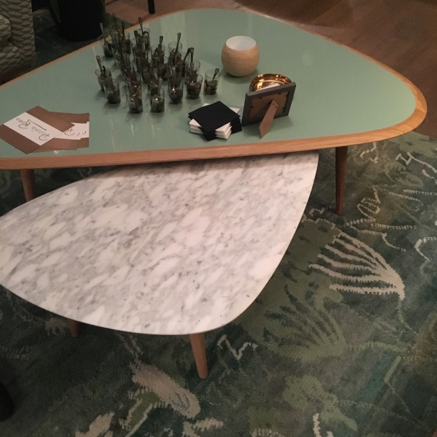 table basse fifties effet faux marbre