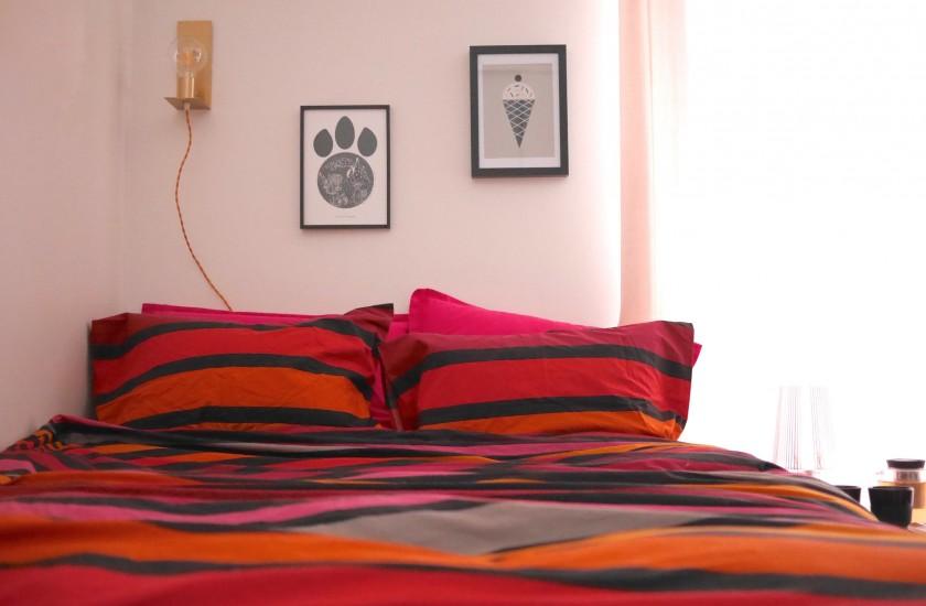 idée vrai lit dans un une pièce