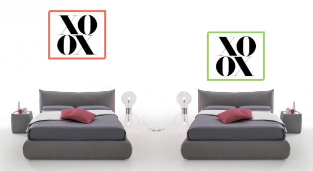 Affiche scandinave XOXO noire et blanche