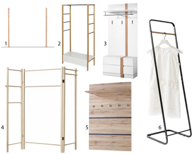 portant minimaliste bois style scandinave