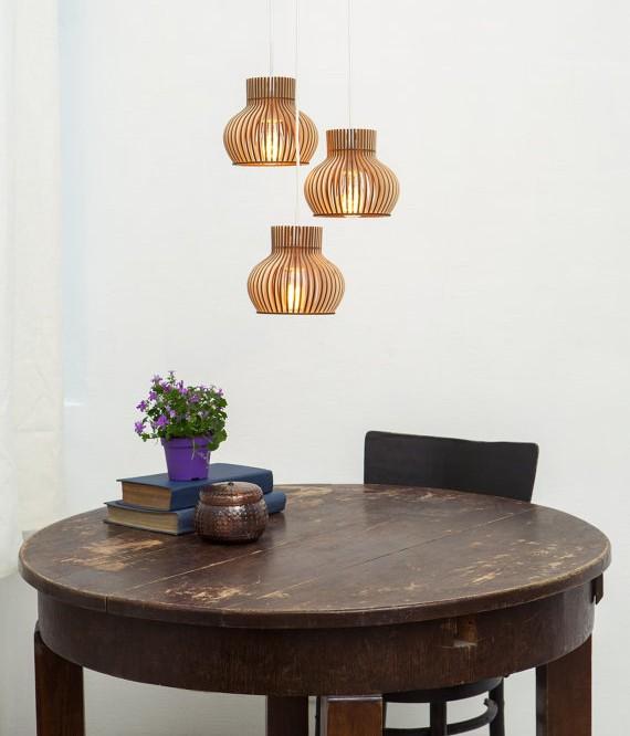 lampe bois scandinave