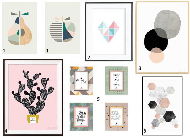 affiche colorée scandinave minimaliste géométrique