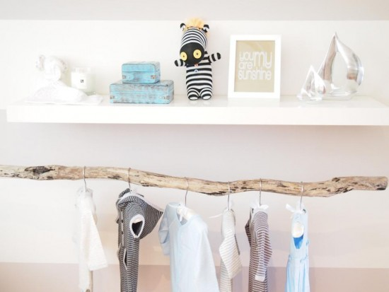 inspiration penderie chambre bebe fille diy