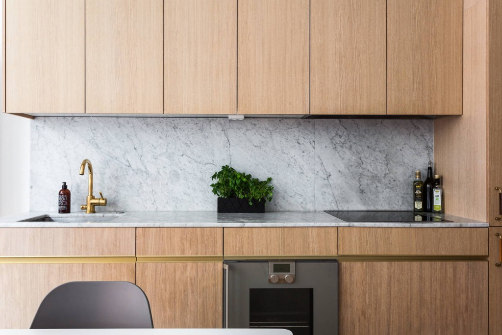 cuisine bois moderne minimaliste ouverte