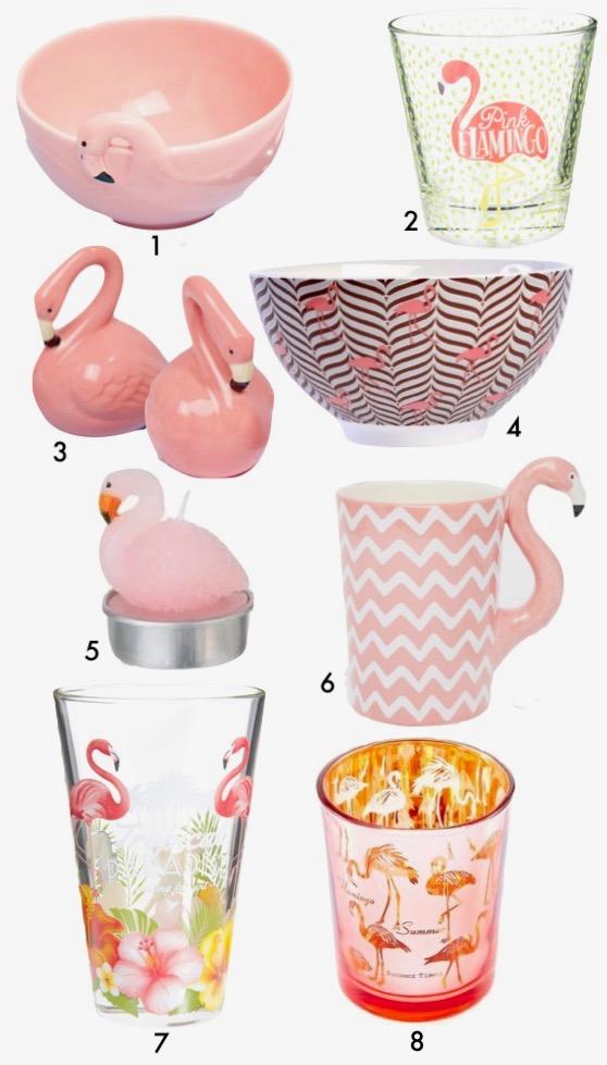 deco flamant rose flamingo vaiselle mug blog decoration clem around the corner