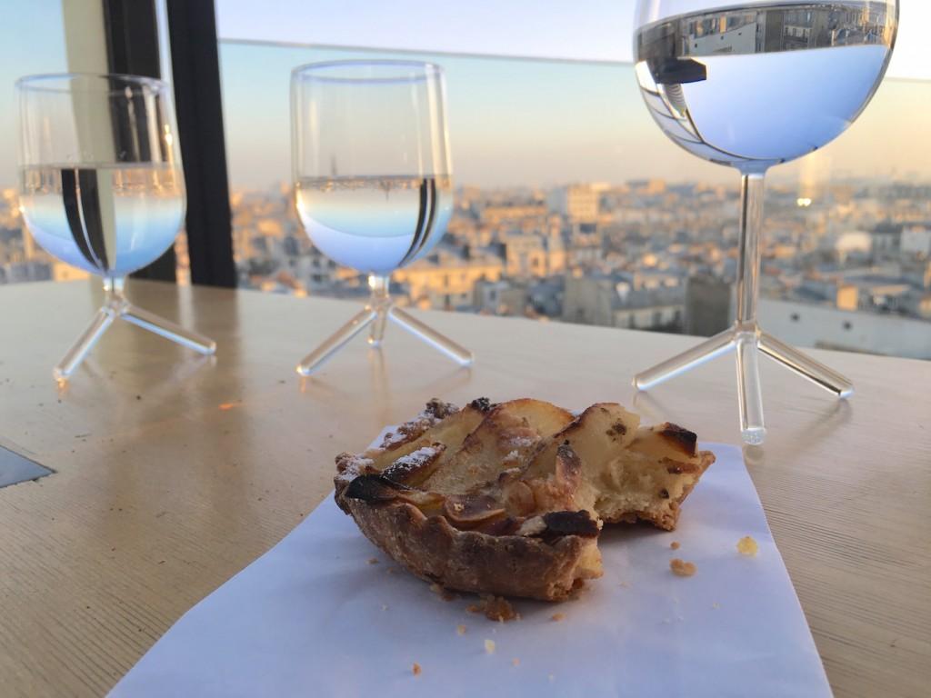 gouter tarte pomme vue sur paris