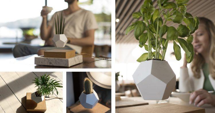 lampe FLYTE Lyfe pot fleur en levitation