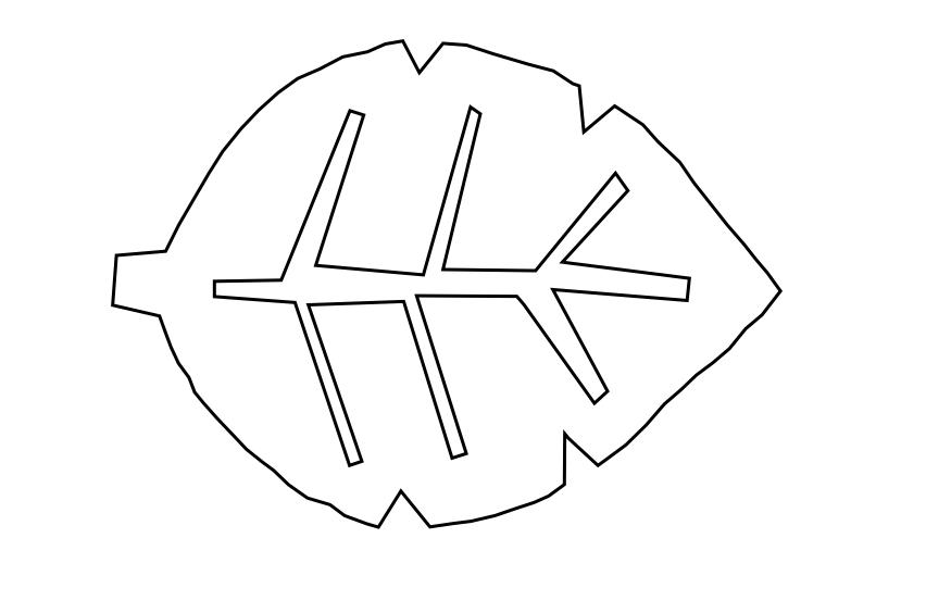 template motif feuille noir et blanc clematc