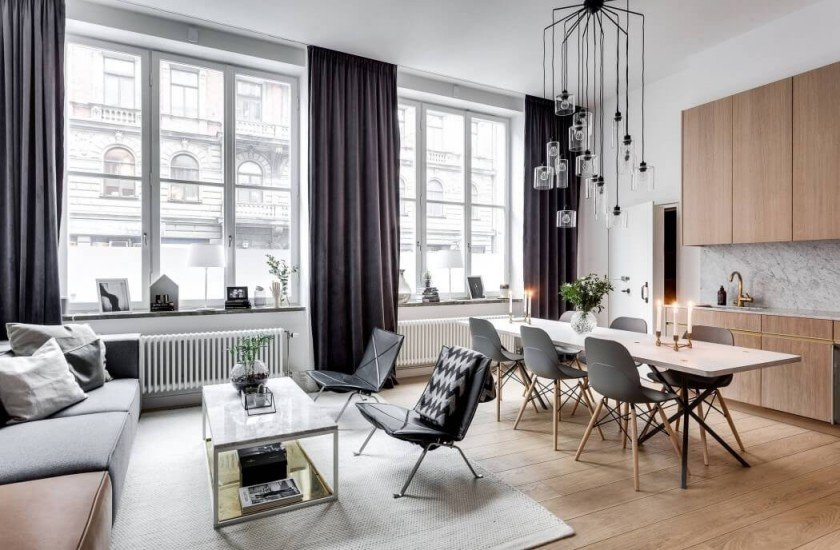 un appartement stockholm par alexander white blog d co clematc. Black Bedroom Furniture Sets. Home Design Ideas