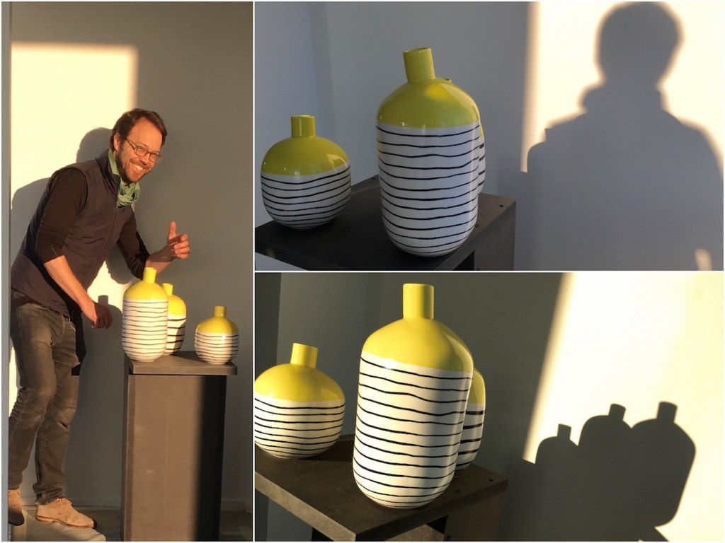 clemaroundthecorner vase jaune soleil