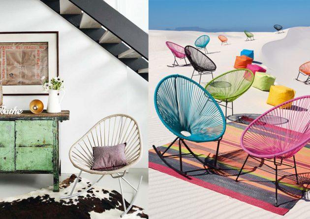 fauteuil scoubidou bleu interieur inspiration