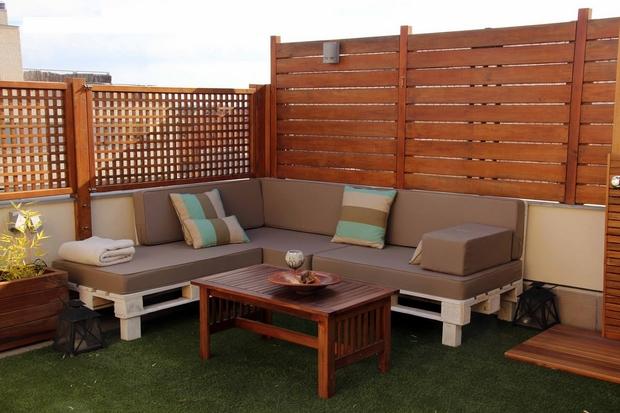 canapé en palette salon de jardin diy