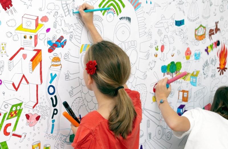 papier peint a dessiner coloriage enfant