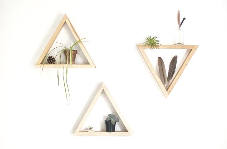 DIY étagère triangle minimaliste inspiration