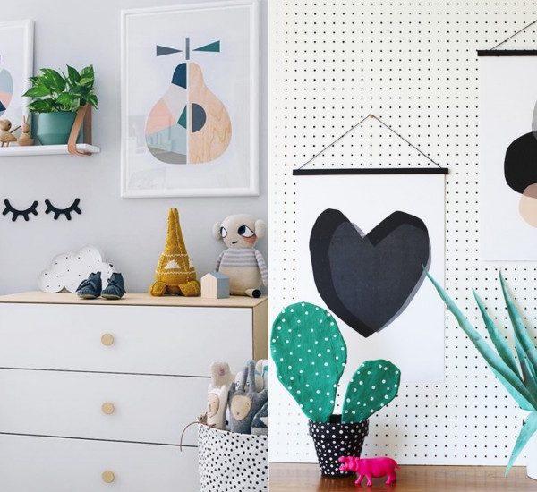 affiche scandinave pastel poire abstrait