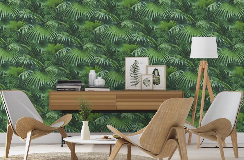 decoration salon style scandinave jungle