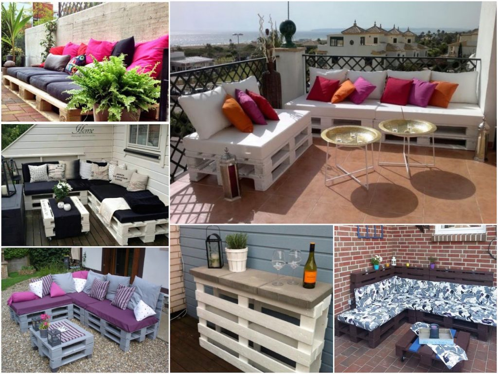 Faire une terrasse en palette blog d co clem around the for Canape salon de jardin