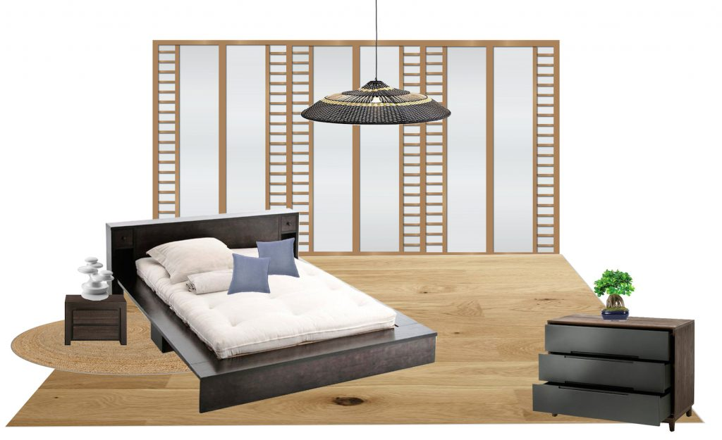 chambre japonaise 3 id es pour s 39 inspirer clem around the corner. Black Bedroom Furniture Sets. Home Design Ideas