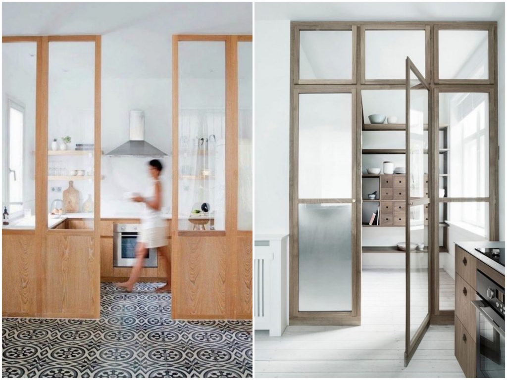 Tendance d co la cuisine verri re blog clem around the for Porte de cuisine en bois brut