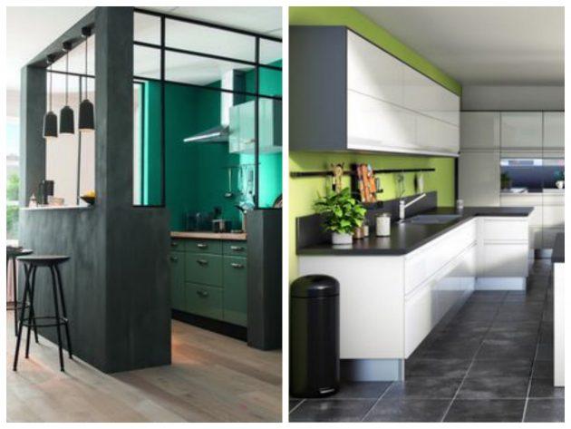 peinture verte pour cuisine verte
