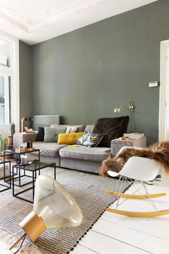 La d co couleur vert kaki inspiration clem around the corner - Deco salon warme kleur ...