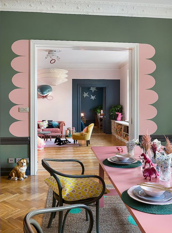 La d co couleur vert kaki inspiration clem around the for Chambre kaki et rose
